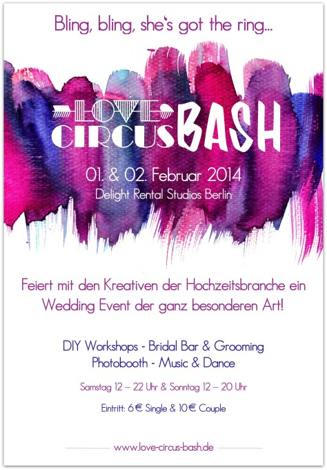 Eventflyer Love Circus BASH 2014