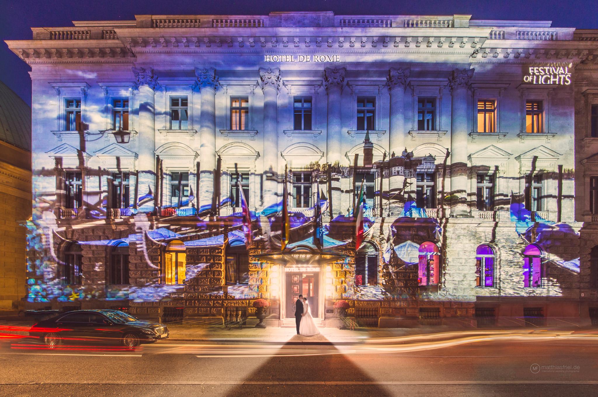 Hochzeit Hotel de Rome Berlin zum Festival of Lights – Matthias Friel