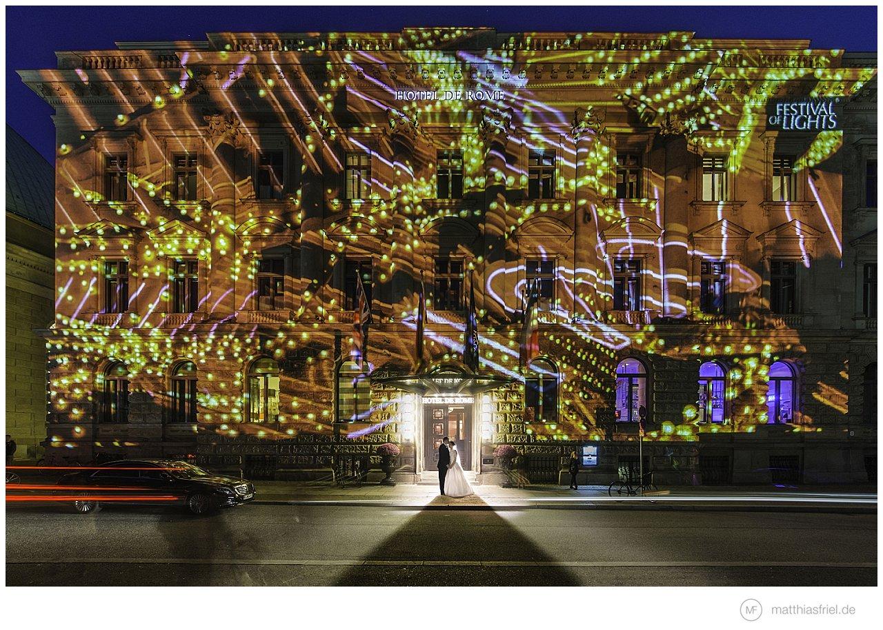 Hochzeit Hotel de Rome Berlin zum Festival of Lights