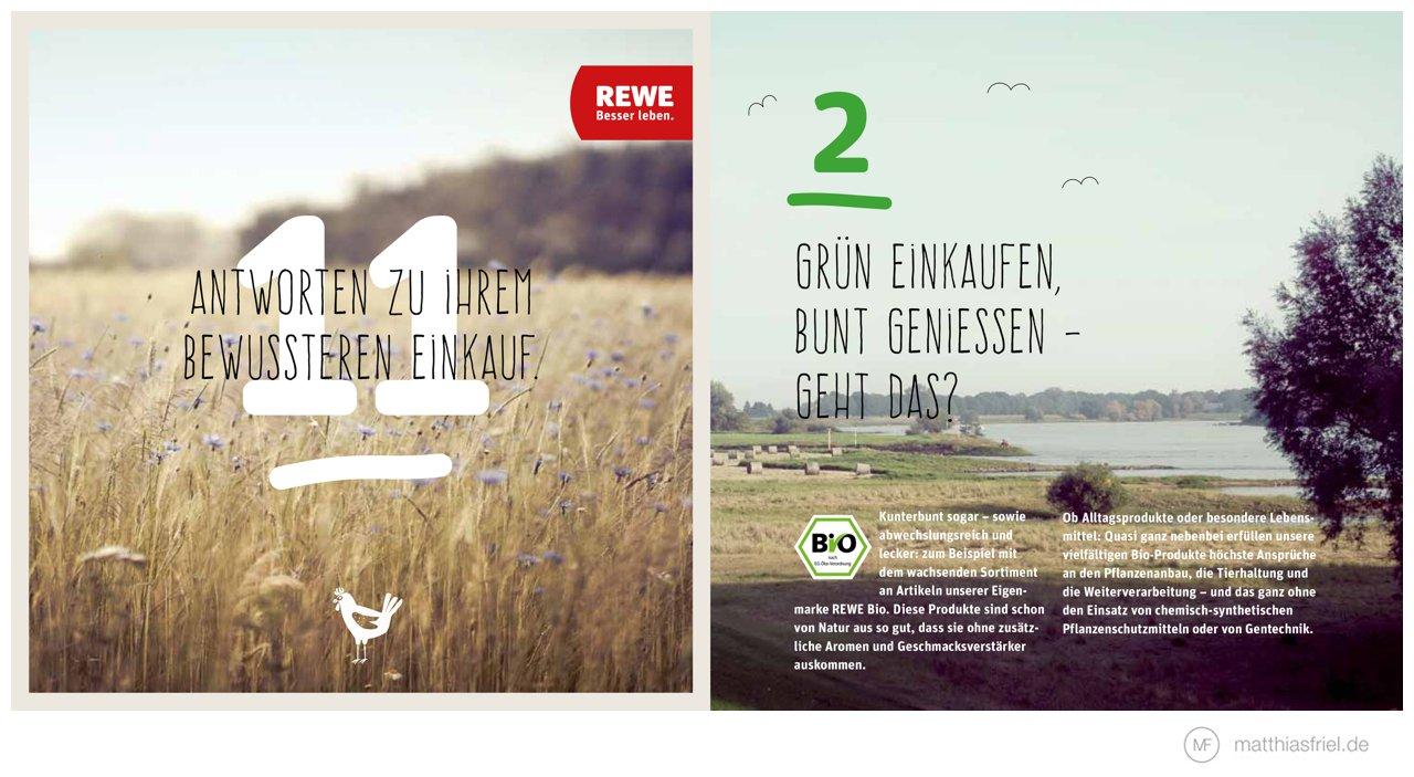 REWE Broschüre zum bewussteren Einkauf mit Fotos von Matthias Friel