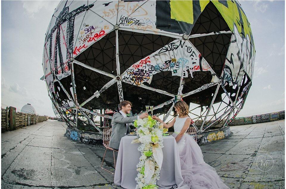 Hochzeit Berlin Teufelsberg – Styled Shooting